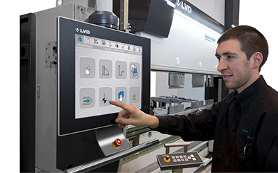 handige touchscreen bediening van de plooibank easy form lvd